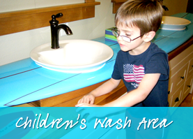 Children Wash Area  - Smile Reef Pediatric Dentistry