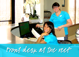 Front Desk At The Reef - Smile Reef Pediatric Dentistry