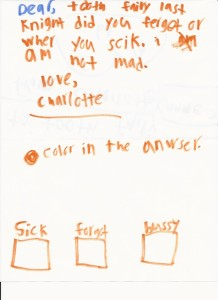 A hilarious example of a letter to the Tooth Fairy
